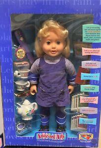 Playmates 1999 Blonde AMAZING ALLY Interactive Doll & BONUS TEA SET New in Box!