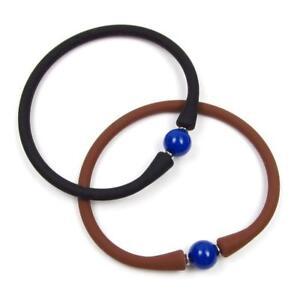 "7.5"" 10mm Lapis Bead Stretchable & Flexible Bangle Bracelet"