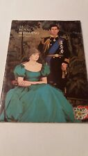 The Royal Wedding Of Prince Charles and Lady Diana Official Souvenir Brochure VG