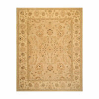 8'1'' x 9'10'' Hand Knotted 100% Wool Peshawar Traditional Oriental Area Rug Tan
