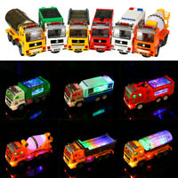 Kids Toys Simulation Truck Cars LED Light Engineering Vehicle Toys for Children