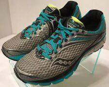 Saucony Triumph 11 Teal Gray Citron Running Shoes S10223-4 Women's Size 9