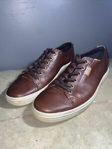 Ecco Mens Size 9 Brown Soft Vii Lace-Up Sneakers N1727* size 46 Us 12-12.5