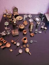 Vintage Brass and copper /other/ miniatures Doll Dishes