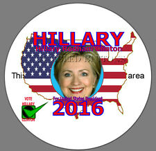 """Hillary Clinton for President Large Button Pin 3.5"""""""
