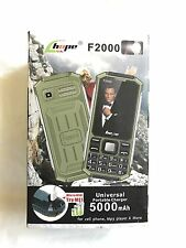 Double Sim Phone With Universal Power Bank And LED Torch F2000 3 in 1