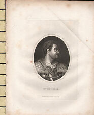1826 DATED GEORGIAN PRINT ~ OTHO CAESAR ~