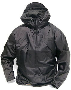 Cabela's Men's Pac-Lite Rain Guide Packable 100% Waterproof Black Rain Jacket