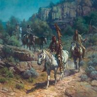"""Comanche Moon"" Martin Grelle Limited Edition 30"" Giclee Canvas"