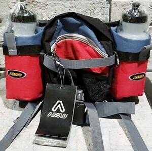 Asolo double shot Waistpack Hip Pack for Hiking Running 2 Water Bottles