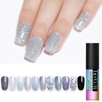 LILYCUTE 5ml Glitter UV Gel Polish Holographic Sequins Soak Off Nail Gel Varnish