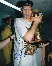 TONI KUKOC signed *CHICAGO BULLS* CROATIA PINK PANTHER basketball 8X10 W/COA #4