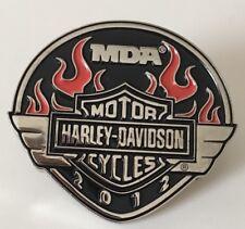 Harley Davidson 2012 MDA Support Jacket Or Vest Flames Pin
