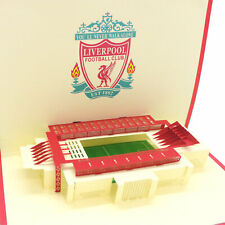Handmade 3D Liverpool FC Football Pop Up Birthday Card UK Seller