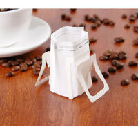 50 Pcs Portable Hanging Ear Disposable Tea Coffee Cup Filter Bags Dripper