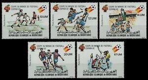 Mauretanien 1980 - Mi-Nr. 691-695 I ** - MNH - Fussball / Soccer