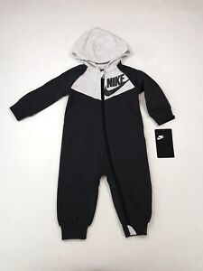 Nike Baby Suit 1 Piece Hoodie 9M NWT Gray