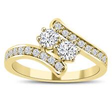0.71 ct Ladies Round Cut Diamond Anniversary Wedding Band Ring 14 kt Yellow Gold