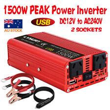 Boat Car 1500W converter power inverter DC 12V to AC 240V invertor USB charger
