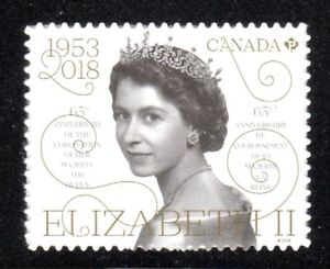 2018 Canada SC# 3098-65th Anniversary of Queen Elizabeth II-from booklet-M-NH