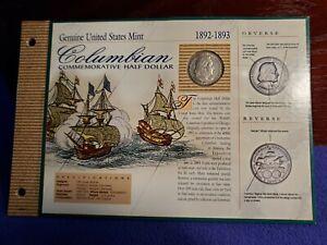 1893 USA COLUMBIAN EXPOSITION SILVER HALF DOLLAR