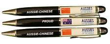 PROUD AUSSIE - CHINESE AUSTRALIAN METAL PEN CHINA SOUVENIR GIFT FLOATING FLAGS