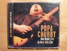 Popa Chubby - One Night LIVE in NEW YORK Ctiy / CD / Bluesrock /Dixiefrog Record