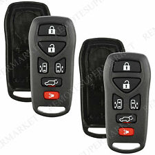 Replacement for 2004-2009 Nissan Quest Remote Car Key Fob 6b Shell Pad Case Pair