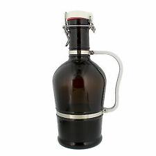 G Francis Amber Glass Growler 2 Liter (half Gallon / 64 Oz) Beer Jug W/swing