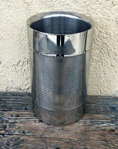 TRUDEAU STAINLESS STEEL WINE BOTTLE CHAMPAGNE DOUBLE WALL COOLER, SONOMA, EUC