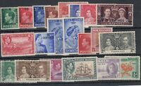 British Commonwealth KGVI Unchecked Collection MNH/MLH J4676