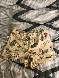 Men's ALL OVER PRINT Vintage Swim Shorts Size Small S/M 50s All Cotton