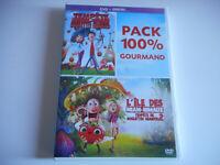 2 DVD NEUF - PACK 100% GOURMAND- L'ILE DES MIAM-NIMAUX + TEMPETE DE BOULETTES