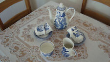 More details for j&g meakin octagonal willow pattern part coffee set.