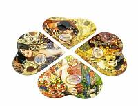 Carmani Painters 4-pc Glass Serving Dishes, Gustav Klimt Collection
