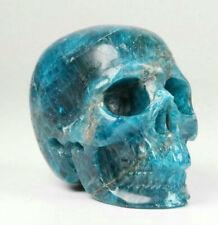 """1.9"""" Kyanite Carved Crystal Skull, Realistic, Crystal Healing"""