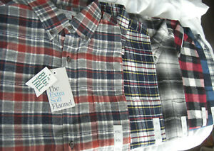 Men's Croft and Barrow Big and Tall Extra Soft Flannel Shirt Long Sleeve Cotton