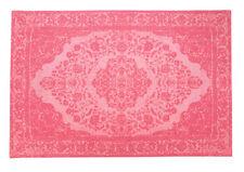 Tapis rose pour la salle à manger en 100% laine