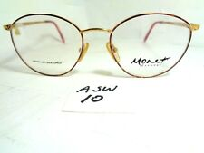 Nos Vtg 1990's MONET Eyeglass Frame MT-59 LAV Marine Brown Gold Violet (ASW-10)