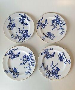 Antique Royal Crown Derby Bone China Luncheon Plates x 4 1915 20.5cm