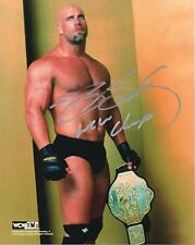 WWE SIGNED PHOTO GOLDBERG WITH WCW TITLE BELT & PROOF WRESTLING LEGEND