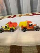 2 HOT WHEELS BLACKWALL 1977 A TRUCK'N ORANGE/YELLOW HONG KONG