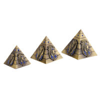 3pcs Metal Pyramids Model 3 Size Egypt Tower Travel Souvenir Home Decoration