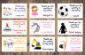 Personalised Birthday Stickers Labels Thank You For Coming To My Party Cone Bag