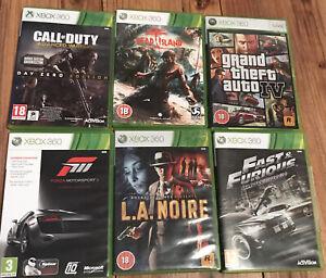 Bundle 6 (tested) Xbox 360 Game, GTA 4, L.A NOIRE, FORZA MORTSPORT 3 - FREEPOST