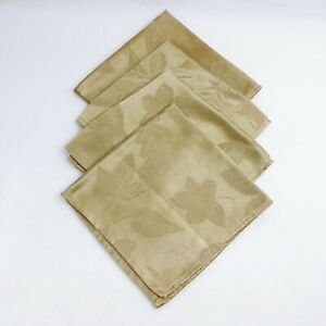 Napkin Embossed Leaf Print 4 Piece Gold