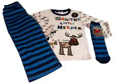 Boys Christmas Pyjamas and Socks Santas Little Helper Reindeer Theme Age 3-4Y