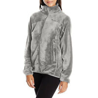 BEARPAW Women's Omaha Lightweight Zip Up Fleece Jacket 116W, Gray. Medium Size