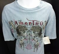 Mens XL OTB Amerino T Shirt Skeleton Knights Griffin Kings Suit of Armour