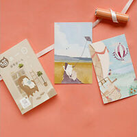 Cute Cartoon Postcards Day Life of Cat Greeting Card Birthday Letter Gifts Cards